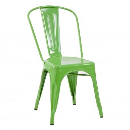 Silla metalica verde