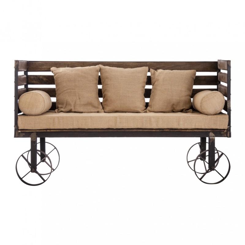 Sofa c ruedas industrial cenza interiorismo tienda on - Ruedas para mobiliario ...