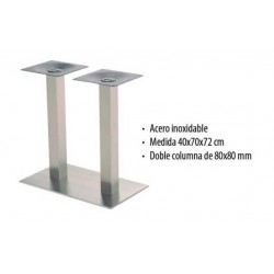 PIE CENTRAL INOX  RECTANGULAR 2C