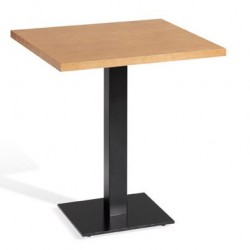 mesa pie central metalico
