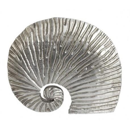 figura caracola plata